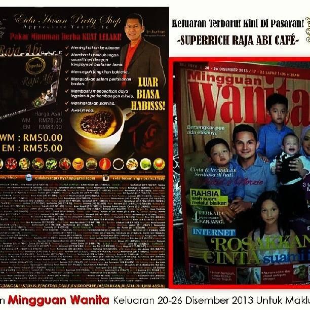Raja Abi Cafe dalam majalah