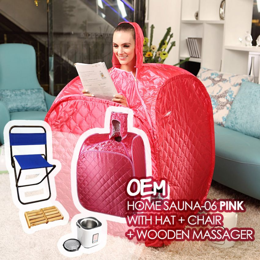 set sauna ruby dengan penutup kepala