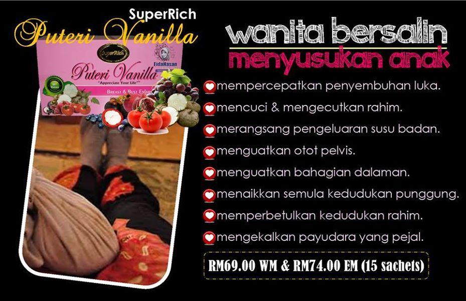 Superrich Puteri Vanilla untuk wanita bersalin